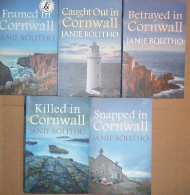 5 X JANIE BOLITHO - in Cornwall books