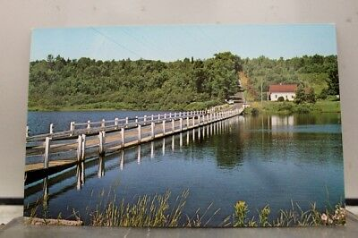 Vermont VT Brookfield Floating Bridge Postcard Old Vintage Card View Standard PC