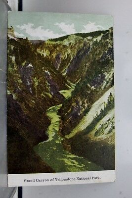 Yellowstone National Park Grand Canyon Postcard Old Vintage Card View Standard