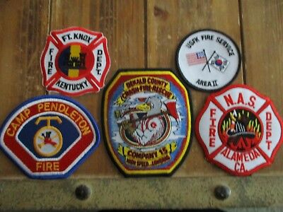 5 ARFF/Military Fire Patches #3