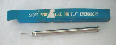 vintage pinch needle in box short point needle for flat embroidery