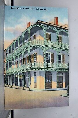 Louisiana LA New Orleans Iron Lace Work Postcard Old Vintage Card View Standard