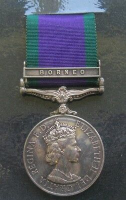General Service Medal 1962 - Borneo Clasp - Cpl. A. E. Charles. R.a.s.c.