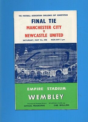 Fa Cup Final 1955 Man City V Newcastle.  Vg/exc
