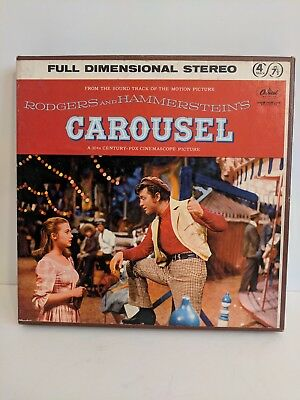 Carousel Full Dimensional Stereo Tape Reel to Reel 4 Track 7 1/2 IPS