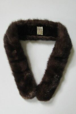 Vintage Gluck's Ranch Mink Fur Collar ~ Velvet Lining ~ CollarClips ~ Decatur Il
