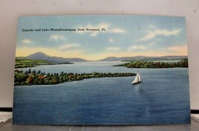 Vermont VT Newport Lake Memphremagog Postcard Old Vintage Card View Standard PC