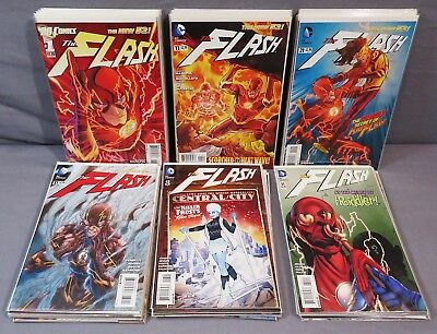 THE FLASH #0, 1-52 + Annuals 1-3 (Full Run minus 5 books) DC Comics 2011 New 52