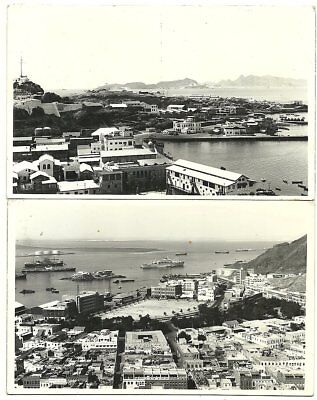 ADEN: 2 diff. PPC (Aden Harbour) franked diff.stamps / used 1959,1960