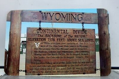 Wyoming WY US 30 Continental Divide Postcard Old Vintage Card View Standard Post