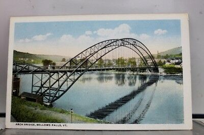 Vermont VT Bellows Falls Arch Bridge Postcard Old Vintage Card View Standard PC