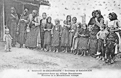 Souvenir of Selonica,Natives in a Macedonien Village.SEE SCANS