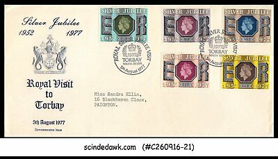 Great Britain - 1977 Silver Jubilee Of The Queen Coronation 5V - Fdc