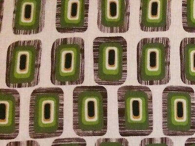 1960's Vintage UNUSED Groovy MOD BOLD SQUARES Retro Space Age Fabric 2 YARDS!