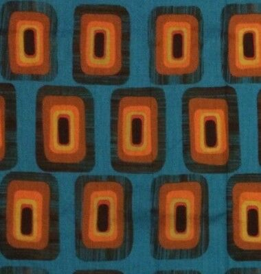 60's 70's Vintage UNUSED Groovy MOD BOLD SQUARES Retro Space Age Fabric 2 YARDS!