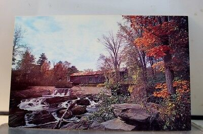 Vermont VT Thetford Center Covered Bridge Postcard Old Vintage Card View Post PC