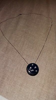 CLIFF RICHARD Miss You Nights silver pendant and chain