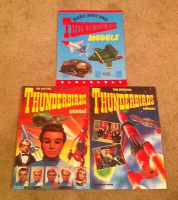 The Official Thunderbirds 1992 & 1993 Annuals & Make Your Own Thunderbirds Model