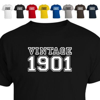 Vintage 1901 117th Birthday Gift T Shirt 018 Many Sizes and Colours