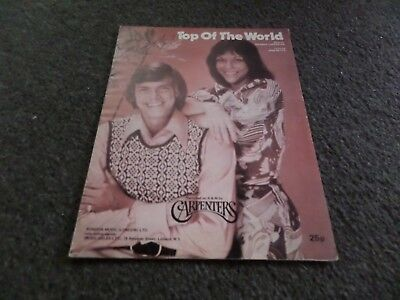 Sheet Music - Carpenters - Top Of The World