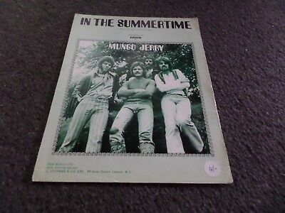 Sheet Music - Mungo Jerry - In The Summertime