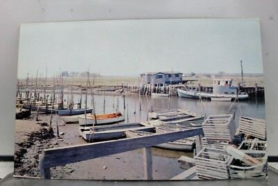 Connecticut CT Guilford Boating Fishing Postcard Old Vintage Card View Standard