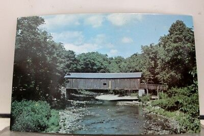 Connecticut CT Comstock Covered Bridge Postcard Old Vintage Card View Standard