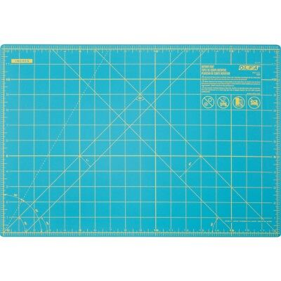 "Olfa Splash Gridded Cutting Mat 12""x18""-aqua"