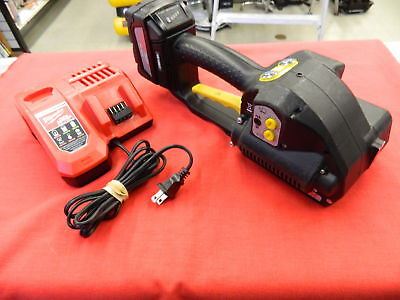 """Fromm Strapper Model P328 1/2"""" Pallet Strapping Banding Tool w/ Battery & Charge"""