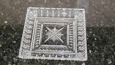 "SPARKLING Waterford Crystal Grafton Street O'Connell 10"" Square Star Tray"