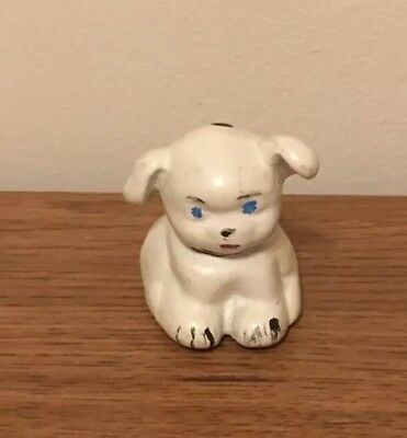 Antique Vintage Cast Iron Pup Puppy Dog Hubley? Small Paperweight