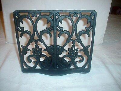 Cast Iron Book Cook Book Stand Adjustable