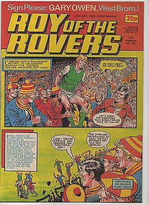 ROY OF THE ROVERS 30th JULY 1983 EXCELLENT CONDITION