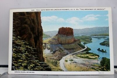 Wyoming WY Toll Gate Rock Lincoln Highway Postcard Old Vintage Card View Post PC