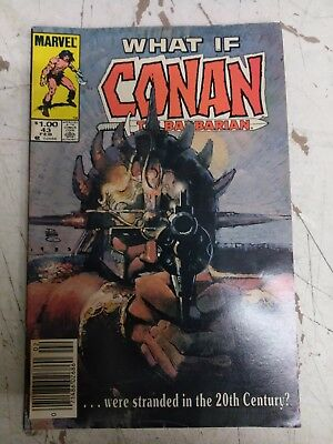 What If ? Vol 1 # 43 Marvel Comics 1984 Conan Were Stranded in the 20th Century?