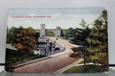 Indiana IN Emrichsville Bridge Indianapolis Postcard Old Vintage Card View Post