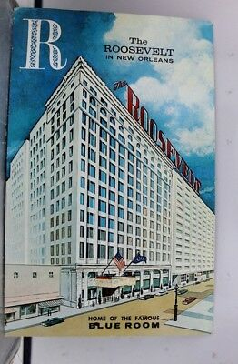Louisiana LA Roosevelt Hotel New Orleans Postcard Old Vintage Card View Standard