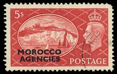 BRITISH OFFICES in MOROCCO 269 (SG100) - Cliffs of Dover Ovpt (pf69951)
