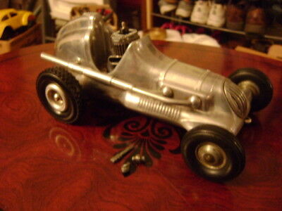 Old Roy Cox Thimbledrome Champion Polished Gas Power Tether Race Car 1940s -XLNT