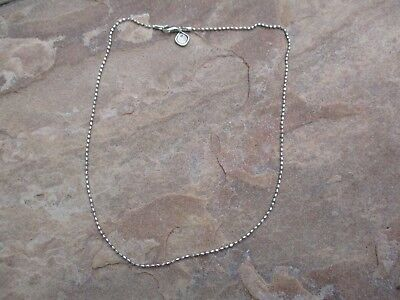 """SILPADA 925 Sterling Silver 1.5mm Wide Popcorn 18"""" Charm Necklace *43"""
