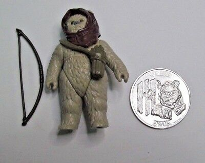 Vintage Original 1985 Kenner Star Wars Last 17 POTF Ewok Warok Bow Coin No COO
