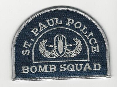 Bomb Squad EOD St Paul Police State Minnesota MN patch