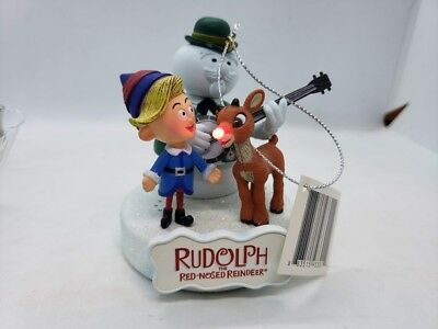 American Greetings Rudolph Holly Jolly Christmas Lighted Christmas Ornament MIB