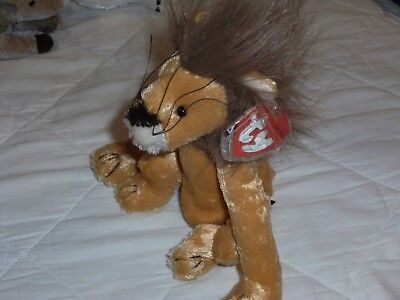 TY Beanie Babies Attic Treasures Kingston the Lion retired plush King of Hearts