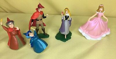 Disney Sleeping Beauty Princess Aurora Prince Phillip PVC Figure Lot Cinderella