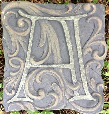 A Stone, plaque, stepping stone,  plastic mold, concrete mold, cement, plaster