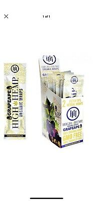 High Hemp Grape Ape Organic Wraps 1 Box 25 Pouch (50 Wraps) NON GMO