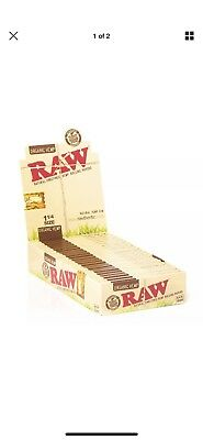 24x Raw Organic 1.25 ( 50 Leaves / Papers Each Pack ) Rolling Paper FULL BOX