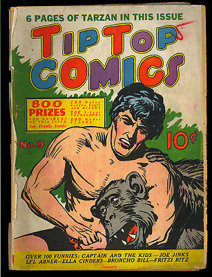 Tip Top Comics #9 (Missing 3 Pages) Tarzan Cover Early Golden Age 1937 FR*