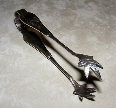 ** DERBY SILVER CO. **  Sugar Tongs * Lily Of The Valley **